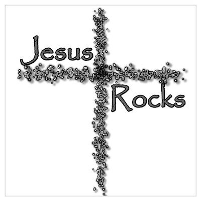 Jesus Rocks Christian Youth Poster