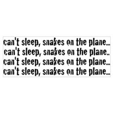 Snakes on a Plane Can't Sleep Poster