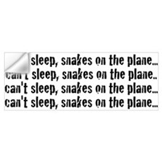 Snakes on a Plane Can't Sleep Wall Decal