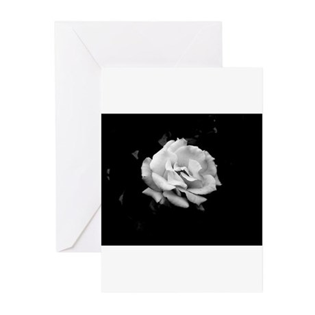 Black and White Rose Greeting Cards (Pk of 10)