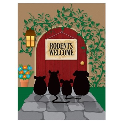 Rodents Welcome Framed Print