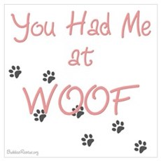 WOOF (pink) Canvas Art