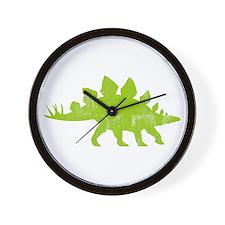 Stegosaurus Wall Clock