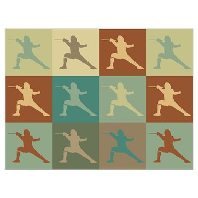 Fencing Pop Art Poster