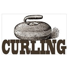 Sepia Curling Framed Print