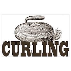 Sepia Curling Poster
