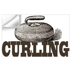 Sepia Curling Wall Decal