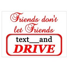 Friends Don't Let Friends Tex Poster