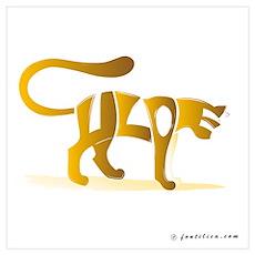 Chloe (Golden Cat) Poster