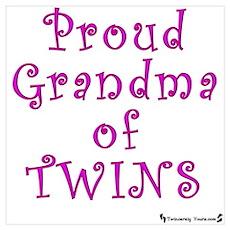 Proud Grandma of Twins Poster