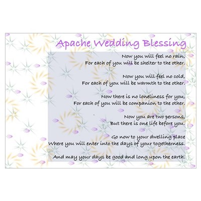 Apache Wedding Blessing Poster