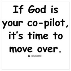 If God is your co-pilot Poster