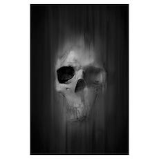 Aggressive Skull (Gray) Poster