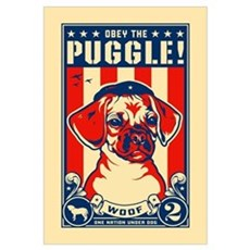 Obey the PUGGLE! USA Framed Print