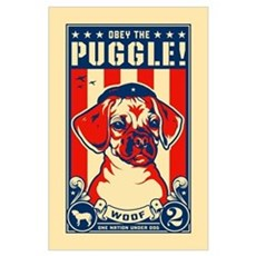 Obey the PUGGLE! USA Poster
