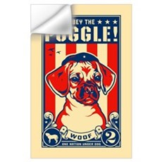 Obey the PUGGLE! USA Wall Decal