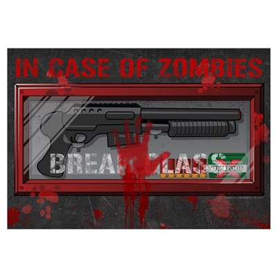 In Case Of Zombies Framed Print
