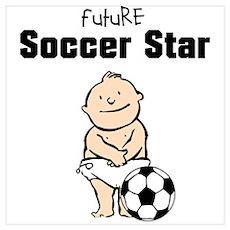 Future Soccer Star Framed Nursery Print Poster