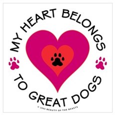 My Heart Belongs to Great Dogs Framed Print