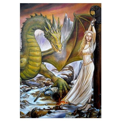 Dragon and Captive Poster
