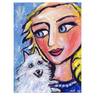 ESKIE w Blond Lady Poster