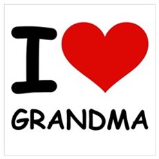 I LOVE GRANDMA Canvas Art