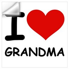 I LOVE GRANDMA Wall Decal