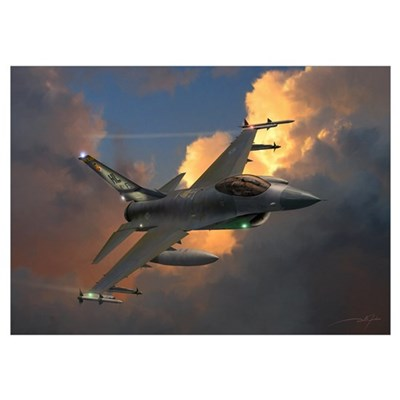"F-16 (14"" x 10"") Poster"