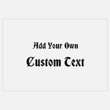 Black Custom Text