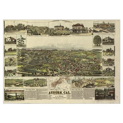 Auburn, CA, 1887. Poster