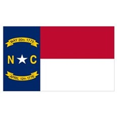 North Carolina Flag Framed Print