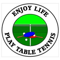Enjoy Life Play Table Tennis Framed Print
