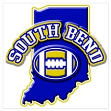 South Bend Football Poster