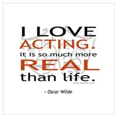 Oscar Wilde Quote on Acting Framed Print