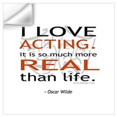 Oscar Wilde Quote on Acting Wall Decal