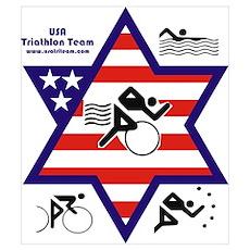 USA Triathlon Team Poster