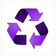 Purple Recycling Symbol Poster
