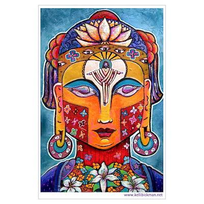 Kelli Bickman original 'Christ-Buddha' Poster