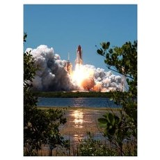 Discovery Launch Framed Print