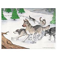 Buck Running Wild Poster