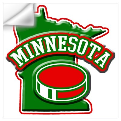 Minnesota Hockey Wall Decal