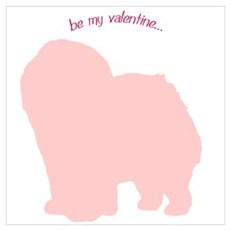 Chow Chow... Be My Valentine Canvas Art