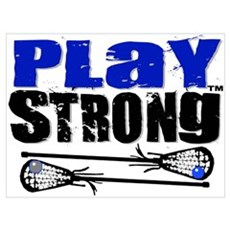 Play Strong LAX Framed Print