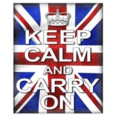 Keep Calm & Carry On Union Jack Canvas Art