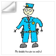 Daddy's a Policeman Wall Decal