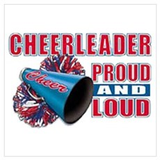 Cheerleader Proud & Loud Canvas Art