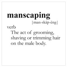 MANSCAPING / Gay Slang Canvas Art