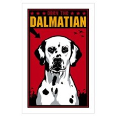 Obey the Dalmatian! Dog Poster
