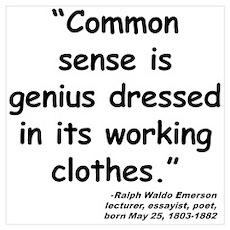 Emerson Genius Quote Poster