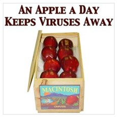 Macintosh - An Apple A Day Poster